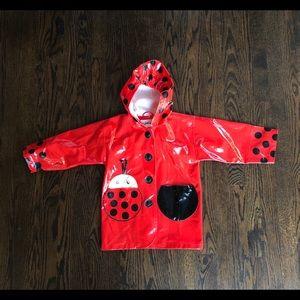 Kidorable lady bug raincoat girl size 3T